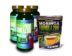 Moringa Fórmula 200 (3 Frascos + Te GRATIS)